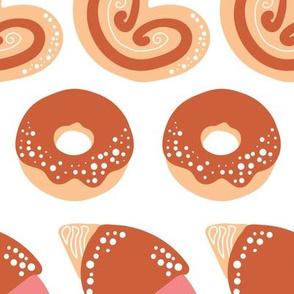 Patisserie Donuts, Croissant, Eclair, Palmiers (2400)