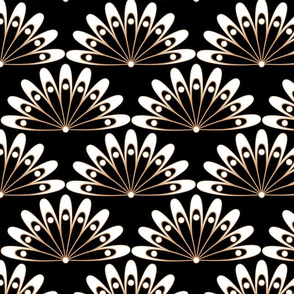 Scales, lace, lace pattern, art deco, white and black, bohemian, flowers, floral pattern, floral, art deco flowers, luxurious, art deco scales, chic, snazzy