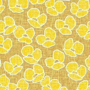 poppy, poppy flowers, yellow poppies, gold pattern, golden flowers, yellow, flowers, flower, yellow flowers, flower pattern, flower design, blooming flowers, summer flowers