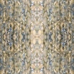 Brown, Tan & Blue Plaid Knit