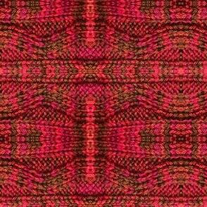 Mottled Red Pillar Knit
