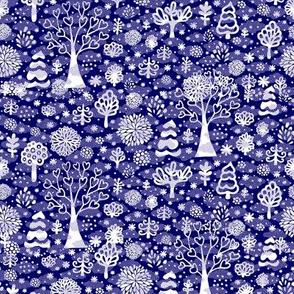 Snowfall, Christmas forest