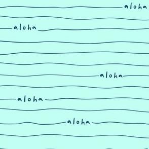 Aloha lines light blue