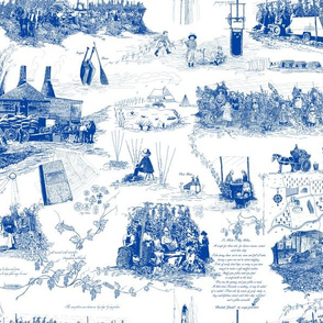 White and Blue Toile - smaller version