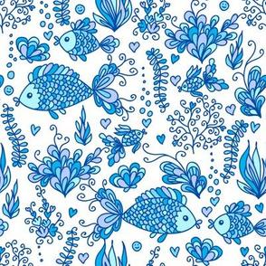Underwater life - blue
