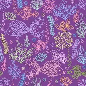 Underwater life - purple