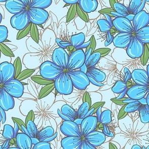 Cherry blossom - blue 2
