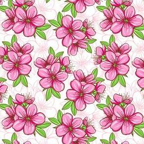 Cherry blossom - pink green