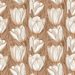 Beige tulips
