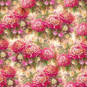 Painting Chrysanthemum - pink