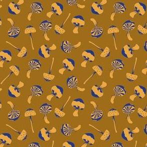wood mushroom yellow blue - small scale