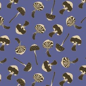 mushroom cobalt blue - medium scale