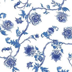 Blue Indienne - 18th century