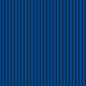 Small Blue Pin Stripe Pattern Vertical in Black