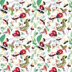 Catapillars Mushrooms Ladybugs 3x3