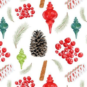 cranberry christmas toss - white