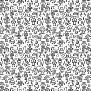 Robot colour me in tiny scale