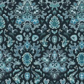 Victorian underwater tropics (turquoise)