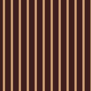 brown and tan stripe for kerry - darker 3E1F1E