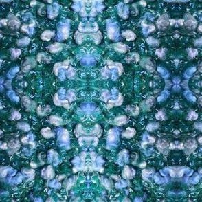 Blue & Teal Nubby Flower Knit