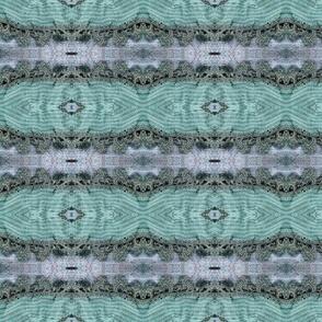 Heathered Sea Foam and Gray Lace Knit