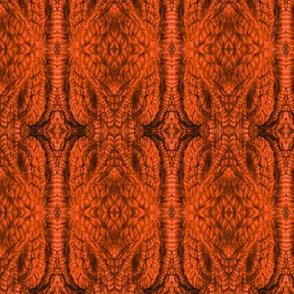 Delicate Diamond Knit in Burnt Orange
