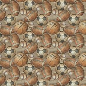 Be the Ball Sports Micro Scale- Baseball, Football, Soccer and Basketball