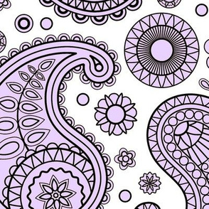 Pretty Lavender Paisley
