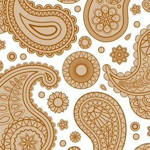Traditional Neutral Paisley