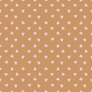 Love lovers minimal hearts basic romantic heart design cinnamon pink tossed tiny