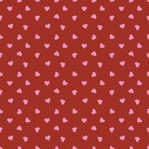 Love lovers minimal hearts basic romantic heart design burgundy red pink tossed tiny