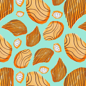 Orange Abstract Organic Shapes