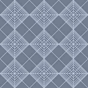 Continuous Geometric Pattern Perwinkle Slate