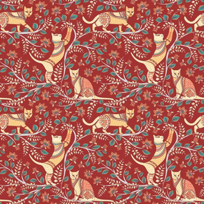Cats @ Kalamkari (small scale)