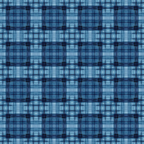 ROUND TEXTURE PLAID BLUE