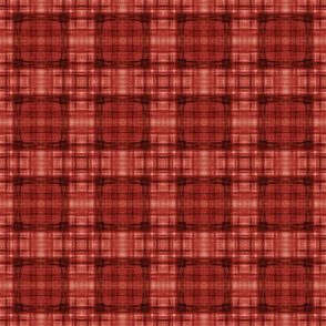 ROUND TEXTURE PLAID RED