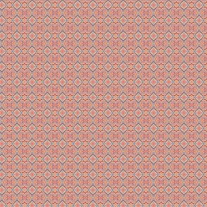Red, Gold and Blue Ikat - Micro Scale