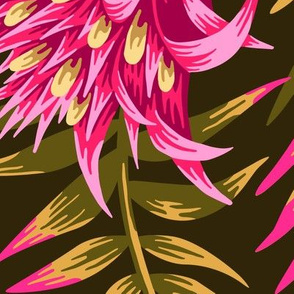 Fasciata Tropical - Pink/Green - LARGE