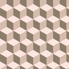 tumbling blocks - clay & blush