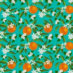 Orange Blossoms and Jasmine-- Teal