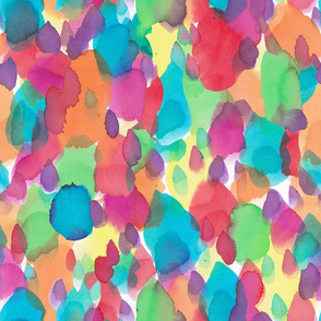 Watercolour rainbow abstract speckles