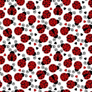 Little Ladybugs and Hearts Small Scale