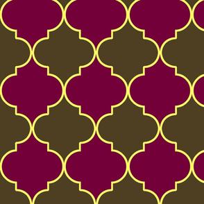 Plum Blossom Moroccan Trellis
