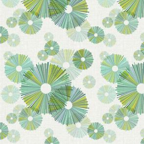 Paper Umbrellas Green