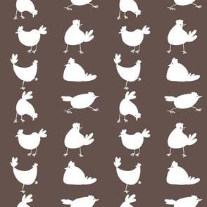funny chicken silhouette