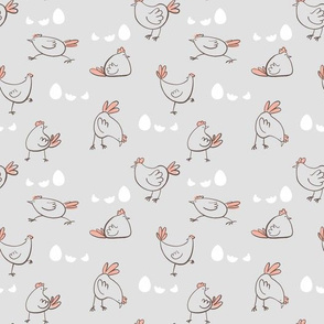 funny chicken counter with eggs