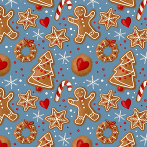 Lamb Illustration's Gingerbread Cookie Winter Pattern