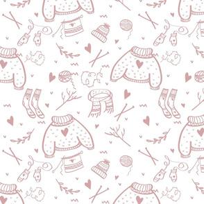 Ugly Christmas Holiday Sweater Knitting Pattern Mauve