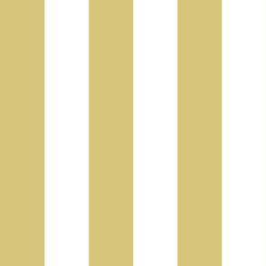 classic 3 inch  wide stripes honey yellow white