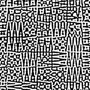 zigzag Turing pattern 1 -  black and white